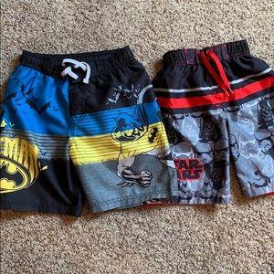 Star Wars & Batman swim trunks